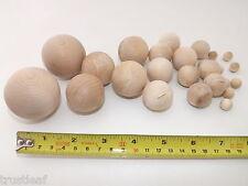 Birch Hardwood Wood Balls 12, 19, 25, 30, 38, 50mm * arts / craft / potpourri