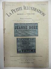Revue LA PETITE ILLUSTRATION Jeanne Doré - La Victime roman théatre de 1914