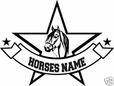 """Paso Horse Head Personalized Trailer Truck Decal 12"""""""