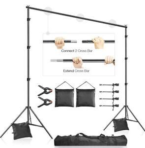 LimoStudio 10x7.3 ft. Adjustable Photo Video Backdrop