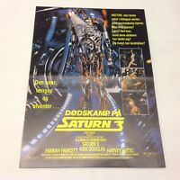 Saturn 3 Kirk Douglas Farrah Fawcett Keitel Vtg 1980 Danish Movie Press Release