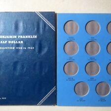 1946-1963  FRANKLIN HALF DOLLARS, 3-Page WHITMAN FOLDER, Unused w/ NO Coins