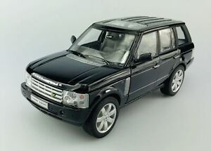 WELLY LAND ROVER RANGE ROVER BLACK 1:24 DIE CAST METAL MODEL NEW IN BOX