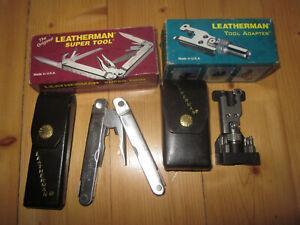 Vintage Leatherman Super Tool and Tool Adapter