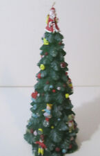 """Christmas Tree Wax Candle 9"""" Holiday Decoration"""