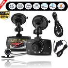 "2.7"" HD Dual Lens Car DVR Camera Video Recorder Dash Cam Night Vision G-sensor"