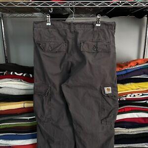 "Carhartt Aviation Vintage WorkWear Cargo Trousers, Washed Grey, 34x32"""