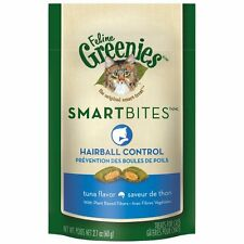 FELINE GREENIES SMARTBITES Cat Treats Hairball Control Tuna Flavor New