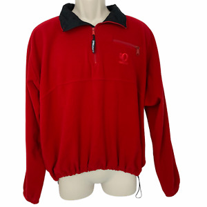 Pearl Izumi Cycling Jacket Womens Large L Fleece Pullover Technical Wear Red