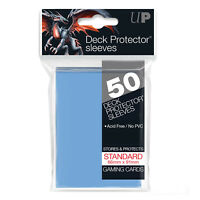Ultra PRO Deck Protector Sleeves Standard Card Size LIGHT BLUE 50ct 66 x 91mm