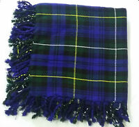 "Men's Kilt Fly Plaid Argly of campbel Tartan /Scottish Kilt Fly Plaid 48""X48"""