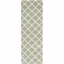Grey/Ivory Hand-Tufted Moraccan Wool Runner Rug 2' 3 x 11'