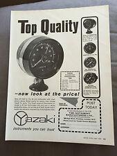 VINTAGE 1960s YAZAKI CAR INSTRUMENTS ORIGINAL ADVERT