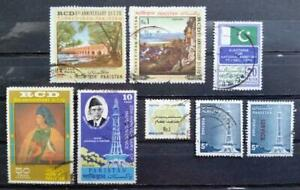 PAKISTAN - '70s stamp collection - Lot of 8 USED stamps