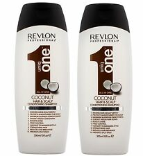 Revlon UNIQ ONE Coconut Conditioning Hair & Scalp Shampoo 300ml Pack of 2