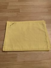 Set of 4 Yellow Cloth Placemats by Fiesta Washable Kitchen Dining Bar Place Mats