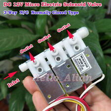 DC 12V 3-Way Micro Electric Solenoid Valve N/C Normally Closed Air Flow Control
