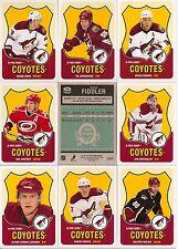 2010-11 OPC O-Pee-Chee Retro Phoenix Coyotes Complete Team Set (18)