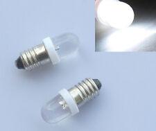 2x E10 LED Screw Base Indicator Bulb Cold White 12V DC Lamp Light Deutsche Post