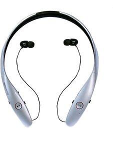White LG Tone Infinim HBS-900 Bluetooth Stereo Headset wireless earbuds neckband
