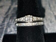 """Dancing Shimmer"" Engagement Ring and Band Set by AVON ~ Size 8"