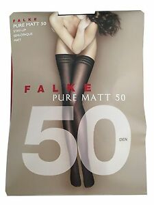 FALKE Socks Hold-Ups Black 50 Den Pure Matt 50 91%Polyamide 9%Elastane