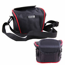 Black Nylon Camera Shoulder Waist Bag For For Olympus SZ-17 XZ-1 SH-2 /STYLUS 1S