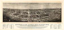 Map Aerial Panorama St Louis Missouri Worlds Fair 1904 Canvas Art Print