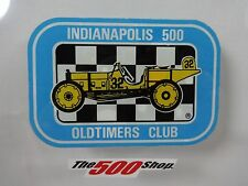INDIANAPOLIS 500 OLDTIMERS CLUB Collector Decal Old Stock IMS