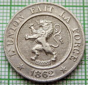 BELGIUM LEOPOLD I 1862 10 CENTIMES