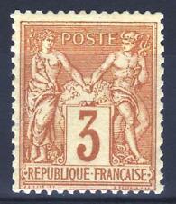 "FRANCE STAMP TIMBRE YVERT N° 86 "" SAGE 3c BISTRE SUR JAUNE "" NEUF xx TTB  M994"