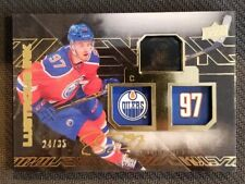 2015-16 UD BLACK LUSTROUS INK CONNOR MCDAVID ROOKIE AUTO #ED 24/35
