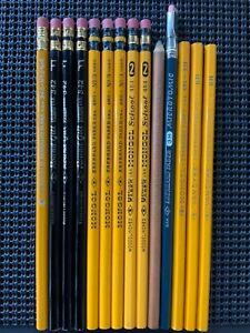 Vintage Eberhard Faber pencils, Round Gilt, Mongol 480, 484, Dash, Microtomic