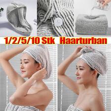 Haarturban Schnelltrocknend Handtuch Kopfhandtuch Wrap Spa Bade Kopftuch Knopf