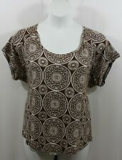 Women's Talbots paisley print casual blouse size 3X petite.