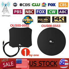 1byone TV Antenna Digital Best Channels HD Free Indoor Long Range 50-100 Miles