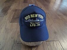 Uss New York Lpd-21 Never Forget Navy Ship Hat U.S Military Official Ball Cap