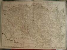 UPPER LUSATIA GERMANY CZECH REPUBLIC 1757 LE ROUGE ANTIQUE COPPER ENGRAVED MAP