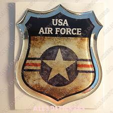 Adesivi Resinati 3D Scudetto Bandiera Stati Uniti USA Forze Aeree Coccarda