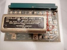 Rare Aviation Aircraft Boeing CIRCUIT BOARD Circa 1970 Oscillator Radio Freq
