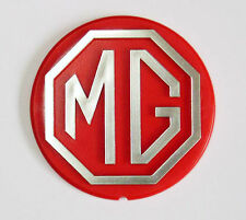 MGB & MGBGT LE Red & Silver Steering Wheel Road wheel Centre Badge, MG BHH2687