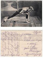 MR Santo giunto Artist nel circo, forza SPORT volte culturismo c.1915 GAY INT
