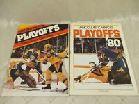 Vancouver Canucks Hockey Magazine 1980 1982 PLAYOFFS Sabres Kings
