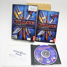 Sid Meier's Civilization III 3 Conquests PC 2003 Full Box Set Tested Working