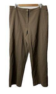 CC fashion Ladies Trousers Size 18 Brown Wool blend Straight Formal