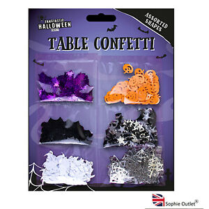 Halloween Confetti Sprinkles Party Table Decorations Scary Set Of 6 Design G1267