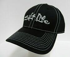 "Live The ""Salt Life"" Fishing Hat Cap A-Flex 6 Panel Black Knit Stretch OSFM NEW"