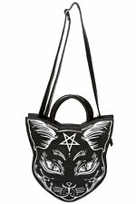 Banned Apparel Nemesis Gothic Kitty Cat Pentragram Occult Shoulder Bag Handbag