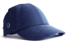 Safety Baseball Cap Hard Hat Bump Cap Navy Blue Vented Velcro Fastening