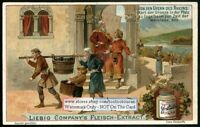 Grape Wine Harvest On The Rhein In 600 AD c1900 Trade Ad Card
